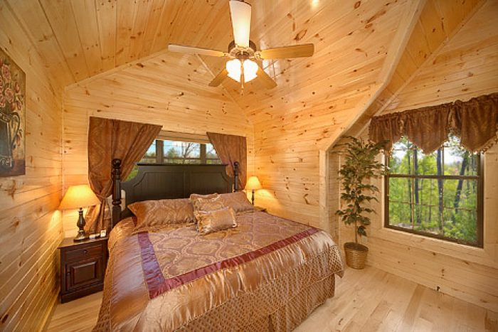 Comfy King Bedrooms in Pigeon Forge Cabin - 4 Your Pleasure
