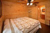 Queen Bed on Bottom Floor with Walk-in Shower
