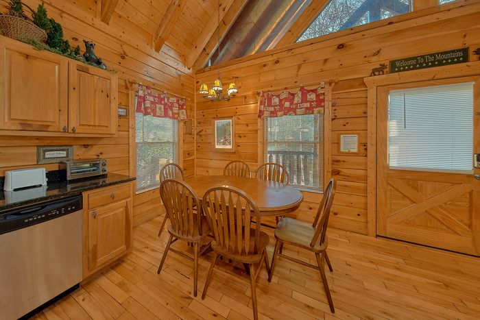 Cabin with Dining Area - A Bear Encounter