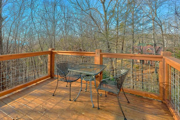 Deck with Patio Furniture - A Bear Encounter