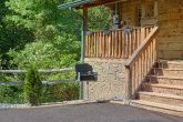 Charcoal Grill and Paved Driveway