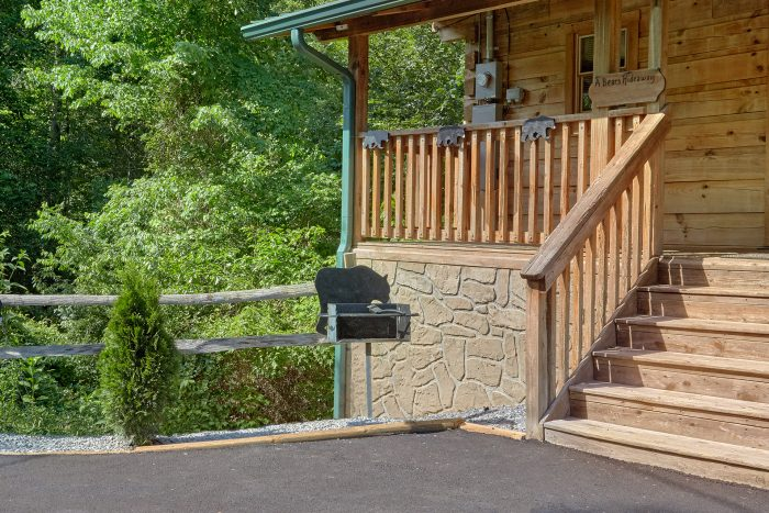 Charcoal Grill and Paved Driveway - A Bear's Hideaway