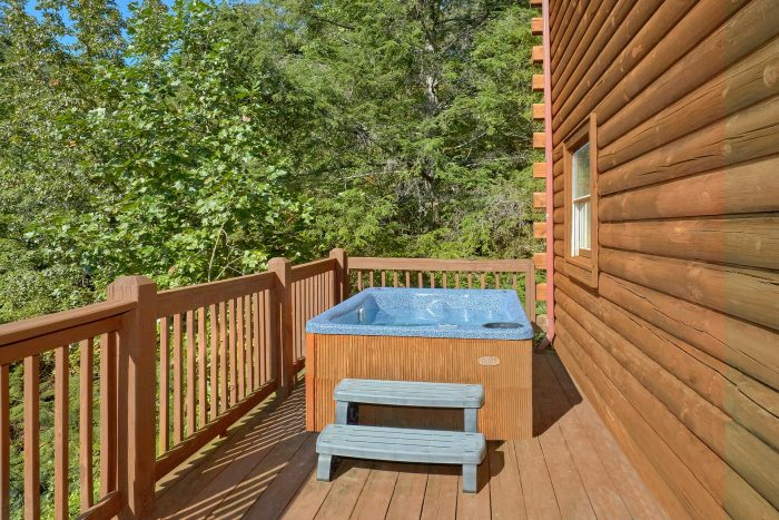 Cabin with Private Hot Tub and Wooded View - A Beary Happy Place