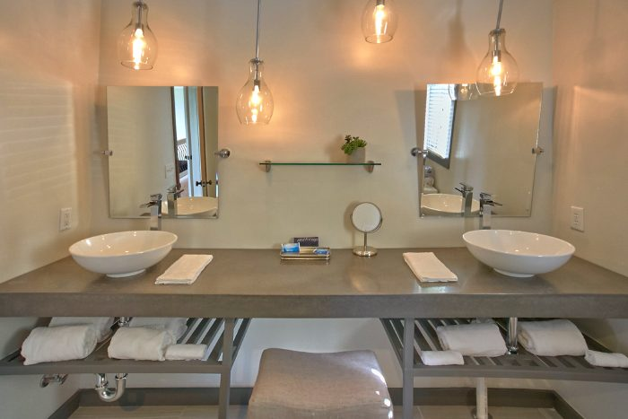 Luxurious, Private Master Bathroom with 2 Sinks - A Castle in the Clouds