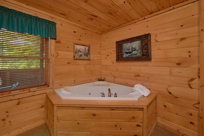 2 Bedroom Cabin with 2 Private Jacuzzi Tubs - A Cozy Cabin