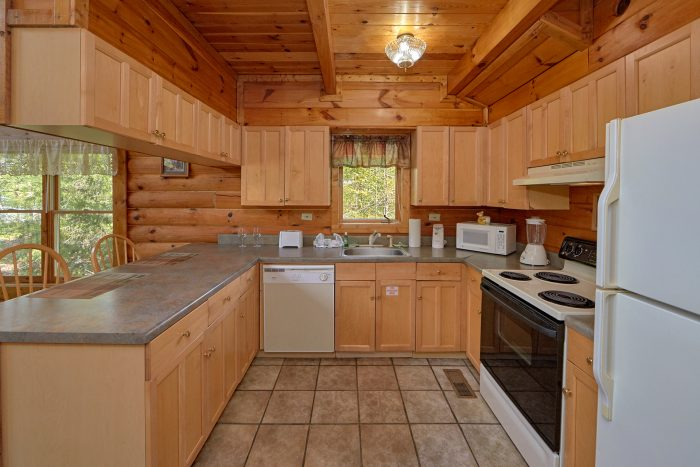 Full kitchen in Wears Valley 1 Bedroom Cabin - A Gift From Heaven
