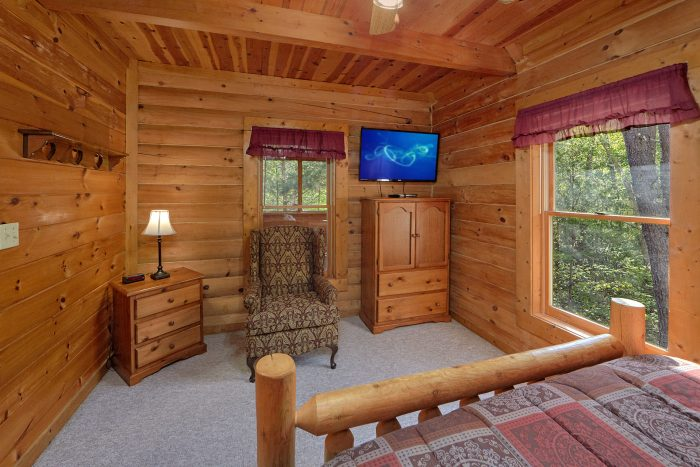 Master Bedroom with a Queen Bed and TV - A Gift From Heaven