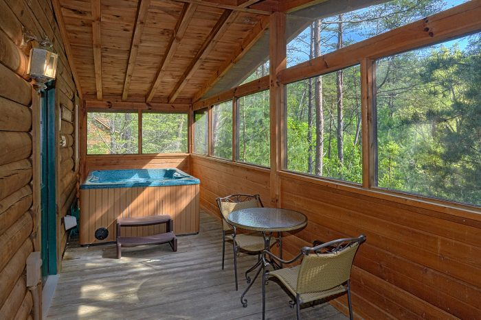 1 Bedroom Cabin with Hot Tub on Screened Porch - A Gift From Heaven