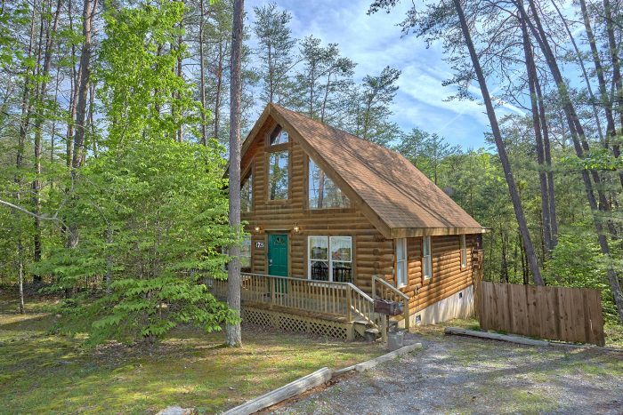 Wears Valley Cabin with wooded View and hot tub - A Gift From Heaven