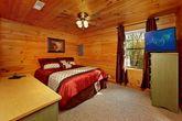 Queen Bedroom on Bottom Level of Cabin