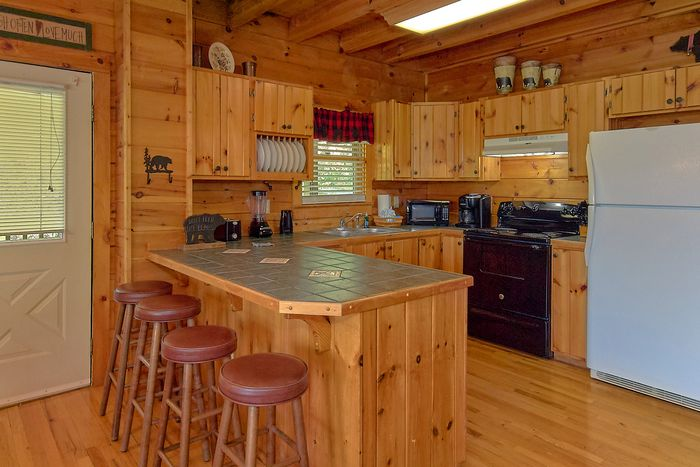 Cabin with Theater Room and King Bed - A Lazy Bear's Hideaway