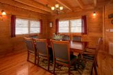 2 bedroom cabin with dining room that seats 8
