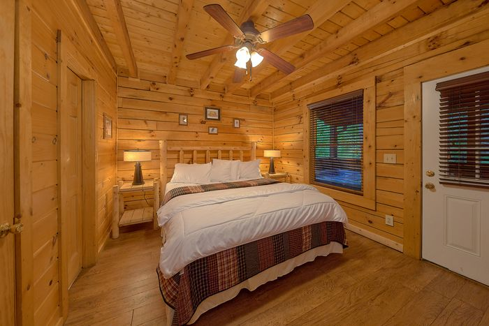 Bedroom with Deck - A Mountain Lodge