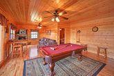 Cabin in the Smokies with Billiard Room