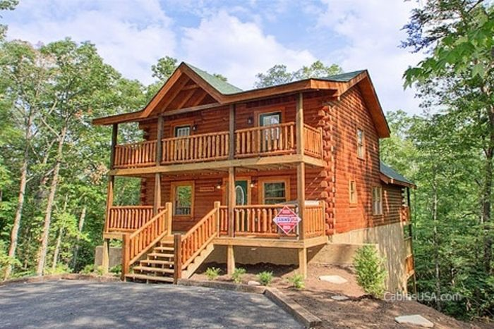 pigeon cabins forge bedroom tn in rental rentals gatlinburg sunset angelic cottage