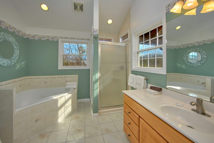 5 Bedroom Cabin Sleeps 12 Master Bath - A View For All Seasons