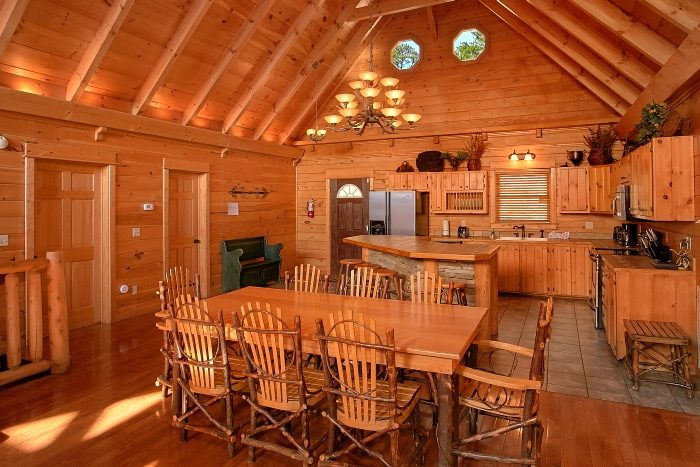Spacious Dining Room in 5 Bedroom cabin - Above The Smokies