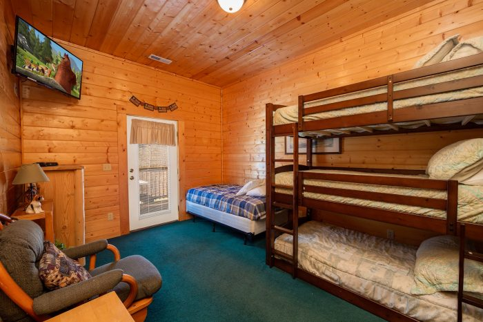 Group cabin in the smoky mountains with swimming pool - 3 bedroom cabins in gatlinburg tn cheap ...