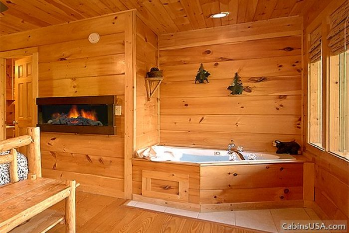 Cabin that Features Fireplace & Indoor Jacuzzi - Alone at Last