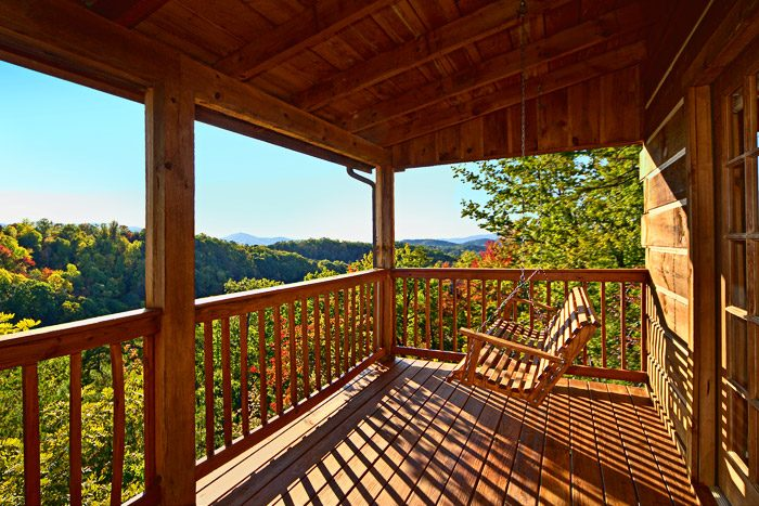 Cabin Swing with Mountain Views - Amazing View