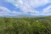 360 degree mountain views from Gatlinburg Cabin