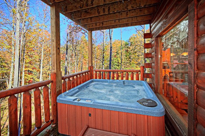 Smoky Mountain Cabin Rental with Hot Tub - Antler Ridge