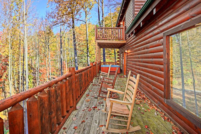 Private Deck for Master Suite on Top Level - Antler Ridge