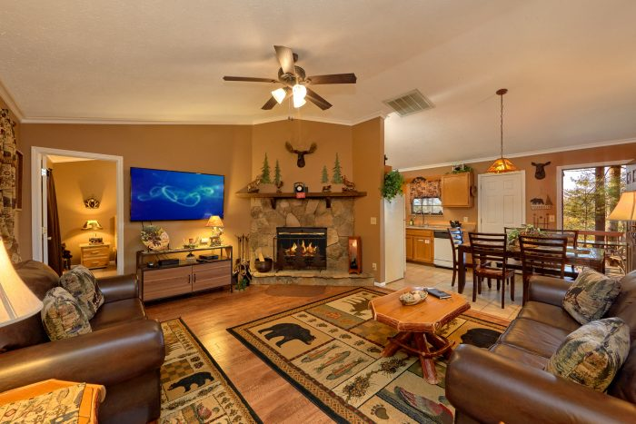 Pigeon Forge Cabin Rental with Wood Fireplace - Autumn Breeze