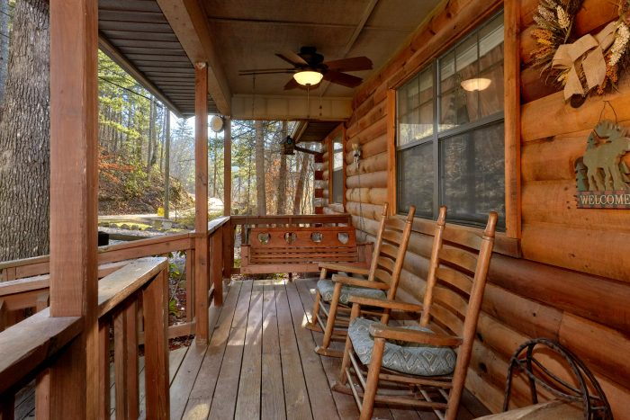 Front Porch with Swing and Rocking Chairs - Autumn Breeze