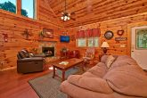 Pigeon Forge Cabin Living Area with Fireplace