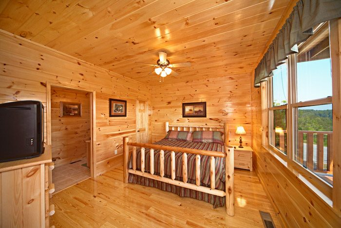 King Bedroom at Cabin - Awesome Views