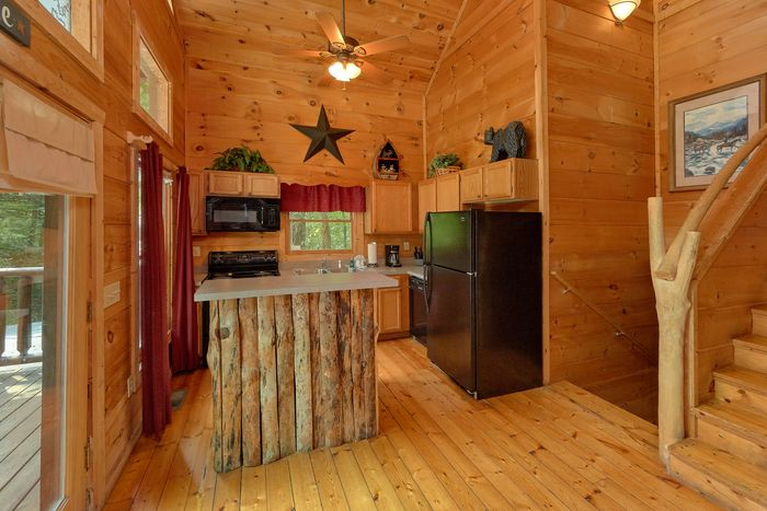 Fully Equipped Kitchen in Smoky Mountain Cabin - Bar None