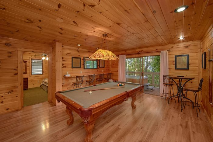 Bottom Floor Game Room with Pool Table - Bear Crossing