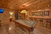 Pool Table in Game Room with Large Space