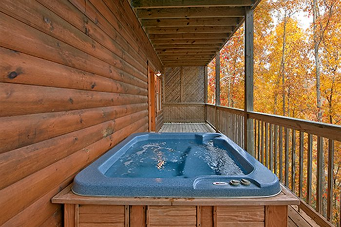 Pin Oak Resort 2 Bedroom Cabin with Hot Tub - Bear Footin