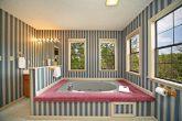 Beautiful Indoor Jacuzzi Tub in Chalet