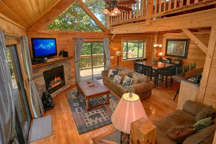 2 Bedroom Cabin with Fireplace and View - Bear Necessity
