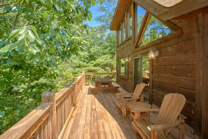 2 Bedroom Cabin with Outdoor Seating - Bear Necessity