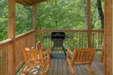 Charcoal Grill and Rocking Chairs on Deck