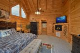 Spacious King Bedroom, Large TV, and Fireplace