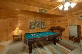 Spacious Cabin with Large Game Room & Pool Table