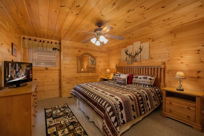 4 Bedroom Cabin with King Bedroom and TV - Bearly Rustic