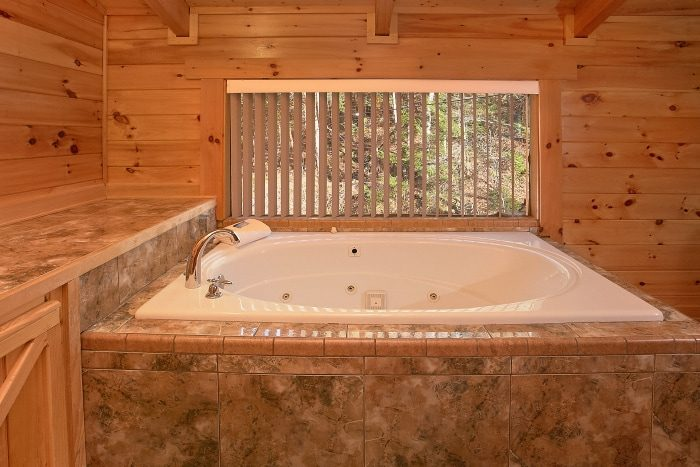 Luxurious Private Jacuzzi Tub in 2 Bedroom Cabin - Beary Dashing
