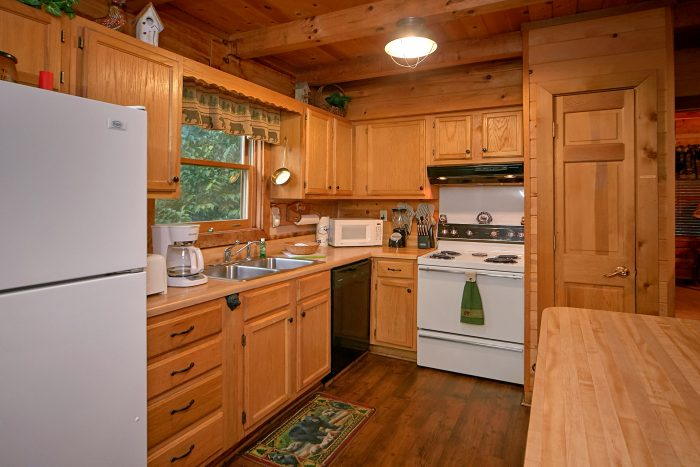 Spacious Kitchen in Gatlinburg Cabin - Big Sky View