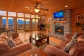 Spacious Living Room with Fireplace and Views