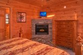 Private Master Suite with TV and Fireplace