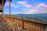Mountain Views from deck of 5 Bedroom Cabin