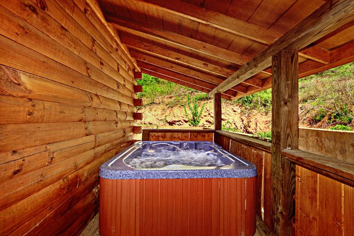 Hot Tub at Cabin - Campbells Cabin