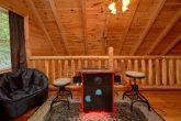 Loft Game room with arcade in 2 bedroom cabin