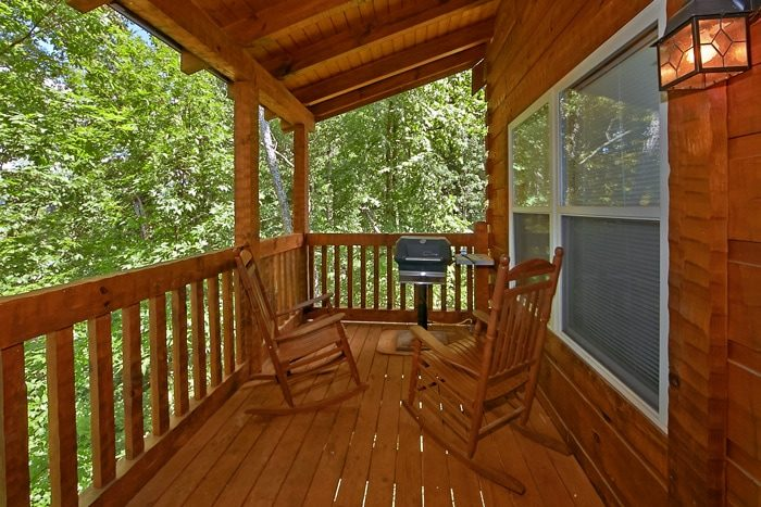 Cabin with Gas grill and wooded view - Catch A Star